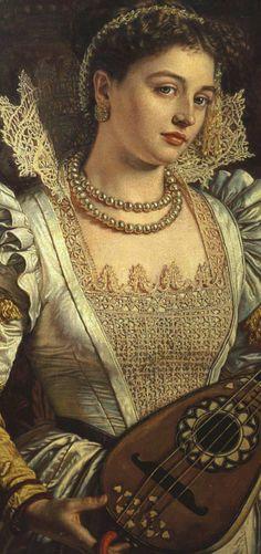 Bianca By William Holman Hunt, detail (British 1827-1910)
