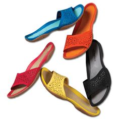 Just bright for the beach! - Merrell Adore Wrap Slides -- Orvis on Orvis.com!