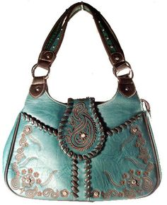 concealed+carry+purses+&+handbags | Concealed Carry Handbag CCW by Montana West / Paisley & Wrap Stitching ...