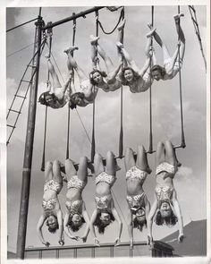 Aerial ballet, 1948  love seeing all these duos on trapeze!!