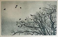 """William White. Hillsborough Rooks. etching, aquatint. 20x14""""."""