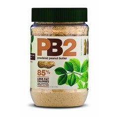 PB2 -- 85% fewer fat calories than normal peanut butter and only 45 calories per serving. It's got all of the taste and the same consistency, too.