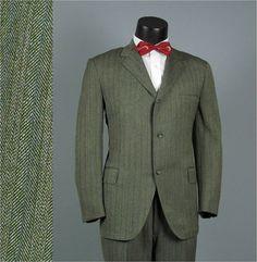 Vintage Mens Suit 1960s Higbee's Alumni Shop Sage by jauntyrooster, $150.00