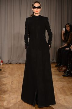 Zac Posen Fall 2014 – Vogue  again project runway: korina's blanket jacket for the chopard challenge