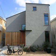グレー 家 外観 - Yahoo!検索(画像) Modern House Design, Japan Architecture, Interior Architecture, Wall Colors, Urban Design, Future House, Facade, Exterior, House Plans