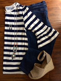 7033ce26838 Styling Stripes for Spring - Midwestern Melissa Blog