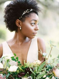 Wedding Hairstyles For Long Hair Eliza Hair Vine Natural Hair Wedding, Wedding Hair And Makeup, Afro Wedding Hair, Wedding Beauty, Bridal Makeup, Coiffure Hair, Natural Hair Styles, Long Hair Styles, Wedding Hairstyles For Long Hair