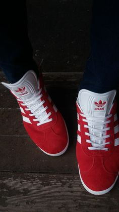 RED   WHITE MY ADIDAS GAZETTE 😎 3688ed420aa96