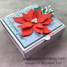 Poinsettia Dies, Festive Corners, Stampin\' Up!, Brian King