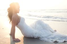Beach trash the dress Shannon Wood Photography