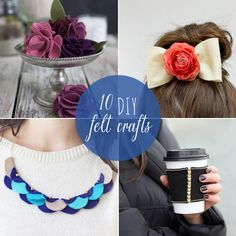 10 easy and fun DIY felt crafts that teach you how to make everything from hair bows to iPhone cases from Babble.com