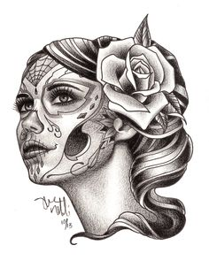 Urban Element Tattoo and Piercing Denver Colorado | Custom Dia De Los Muertos drawing