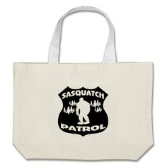 Our Sasquatch tote bags are great for carrying around your school & office work, or other shopping purchases. Large Canvas Tote Bags, Large Tote, Badge, Reusable Tote Bags, Button Badge, Badges