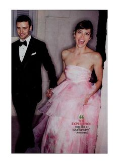 The couple with Jessica in her pink wedding dress • Justin Timberlake & Jessica Biel got married: here are the pictures!