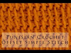 Tunisian Crochet Offset Simple Stitch