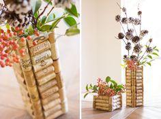 Vaso creato con il riciclo dei tappi di sughero - DIY pot made with cork • #DIY #pot #cork #recycle