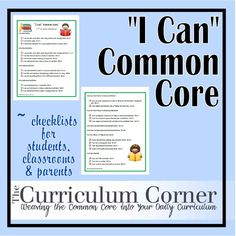 Third grade Common Core standards written in a kid friendly (and parent helpful) format! Presented as posters to display in your classroom or send home to parents.