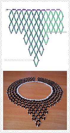 Best 12 This beaded collar necklace – made and designed in Cape Town, South Africa – was will turn heads in admiration as it enhances your outfit. Diy Necklace Patterns, Beaded Bracelet Patterns, Beading Patterns, Bead Jewellery, Seed Bead Jewelry, Bead Embroidery Jewelry, Beaded Embroidery, Beaded Braclets, Beading Tutorials