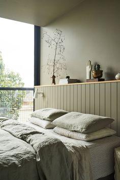 Lauren Egan, Preston, VIC – IN BED Store Bedroom Green, Home Bedroom, Master Bedroom, Bedroom Decor, Bedrooms, Minimal Bedroom, Modern Bedroom, Interior Decorating, Interior Design