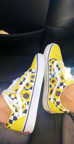 Too much yellow for my liking, but I love the sunflowers and checkers! should i yellow or should i vans -