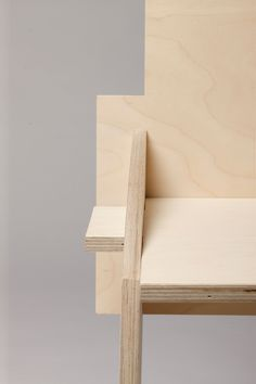 It is a simple wooden chair made out of birch wood plates, which is fixed by a plugging system and comes without any other material or closed linkage.