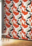 Ineinandergreifende Menschen: Tapete ystävät von Marimekko #skandinavisch #design Marimekko, Retro, Rugs, Home Decor, Bold Colors, Kids Wallpaper, Beautiful Patterns, Minimalist Design, Scandinavian Design