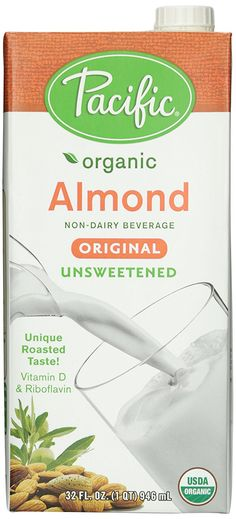 Amazon.com : Pacific Foods, Almond Beverage, Unsweetened, Low Fat, Organic, 32 oz : Grocery & Gourmet Food