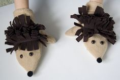 Hedgehog Mittens Pattern and Tutorial