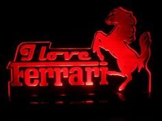 Ferrari Sign, Man Cave Room, Logo Sign, Car Logos, Room Signs, Led Lamp, Game Room, Night Light, Super Cars