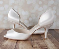 b1df6b37ffb3 Ivory Kaitlyn Wedding Shoes by Ellie Wren (Color May Be Customized)