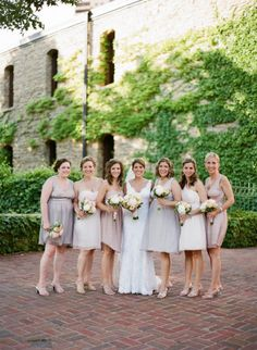 Like these shades too, but not with bridesmaids in cream
