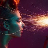 Beauty Portrait Photography with Sparklers