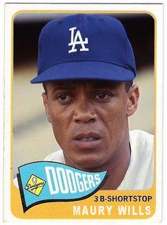 maury wills baseball card - 1965 Best Baseball Player, Baseball Star, Dodgers Baseball, Better Baseball, Sports Baseball, Baseball Cards, Sports Caps, Maury Wills, Cubs Team