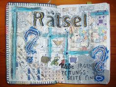 Wreck This Journal: Glue A Random Page From A Newspaper Here. by Nofretiri, via Flickr