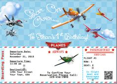 Disney Planes Birthday Invite by ckfireboots on Etsy, $10.00