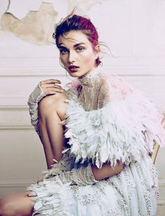 Andreea Diaconu in Chanel haute couture by Lachlan Bailey for the Wall Street Journal, July/August 2013.