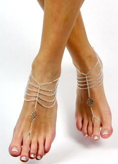 to BareSandals on Etsy: Bohemian Chained Barefoot Sandals Foot Jewelry Boho Chic Anklet Foot Thong Slave Sandal Barefoot Sandal Gypsy Foot Wear Shoeless Sandals USD) Ankle Jewelry, Ankle Bracelets, Body Jewelry, Diy Barefoot Sandals, Bare Foot Sandals, Foot Bracelet, Slave Bracelet, Ankle Chain, Diy Schmuck