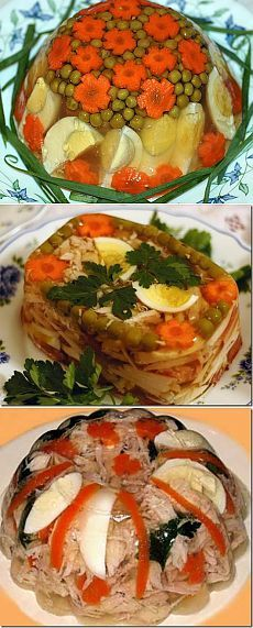 Вкусное заливное рецепты с фото
