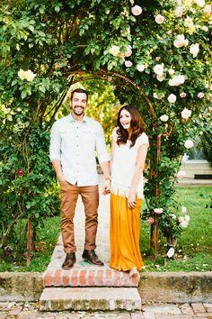 garden engagement / roses