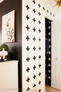 White Cross Coat Closet Makeover - Cuckoo4Design