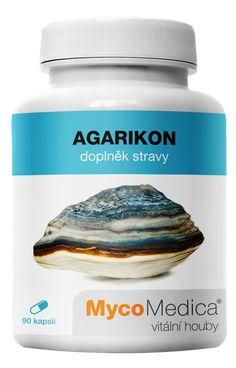 Doplněk stravy  Agarikon v optimální koncentraci  Agarikon (verpáník lékařský) je houba, která se vléčitelství používá vEvropě již od dob Antiky.Jeho využití tehdy zdokumentoval již lékař Neronovy armády Dioscorides vroce 65 našeho letopočtu.  Veškerá houbová surovinu je testována vněmecké nezávislé laboratoři Agrolab na více jak 500 druhů známých těžkých kovů, pesticidů ačlověku nebezpečných mikroorganismů. Testovány je také PAHs aradioaktivita. Je testována ka Coconut Oil, Jar, Food, Essen, Meals, Yemek, Jars, Eten, Glass