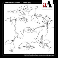 <p> A collection of 8 messy-stitched, leaf elements delivered in .abr and black .png format.</p>