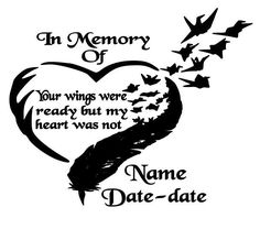 Baby In Memory Wings Computer Window Decal By CountryHeartDesignz - Window decals in memory of