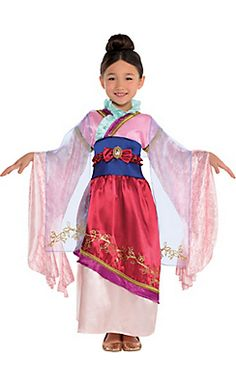 Girls Mulan Costume Classic my sister would love this, she is really addicted to Mulan