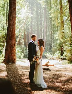 Big Sur wedding with a Jenny Packham dress