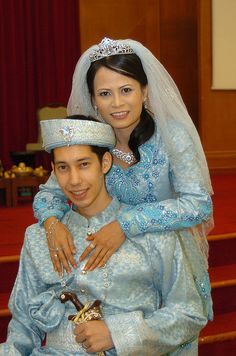 Malay Wedding (blue is a much better color than white..)