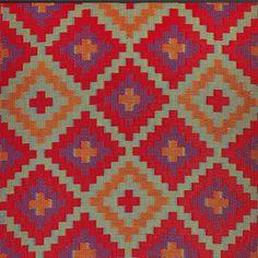 Saman Red & Violet Indoor/Outdoor Rug   Maissone