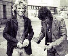 Jon Bon Jovi & Richie Sambora... I Love this picture♥