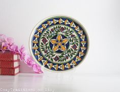 Decorative Armenian Plate Vintage Ceramic by CozyTraditions