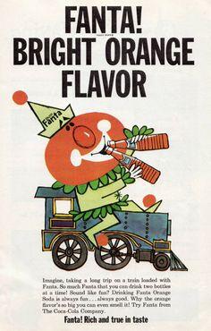 Vintage Fanta advertisement illustration. #vintage #fanta #ad